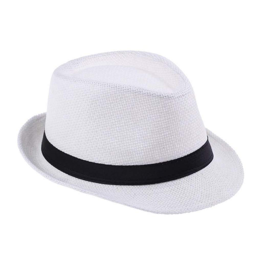 YUGUO Sunhat Fashion Hats for Women Gangster Cap Summer Beach Sun Straw Panama Hat with Ribbow Band Sunhat by YUGUO (Image #1)