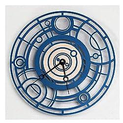 Wall Clock Home European Creative Machine, Silent Non-tick Living Room Bedroom Kitchen Phone Booth Clocks Blue Pocket Watch Silent (Size : 33cm)