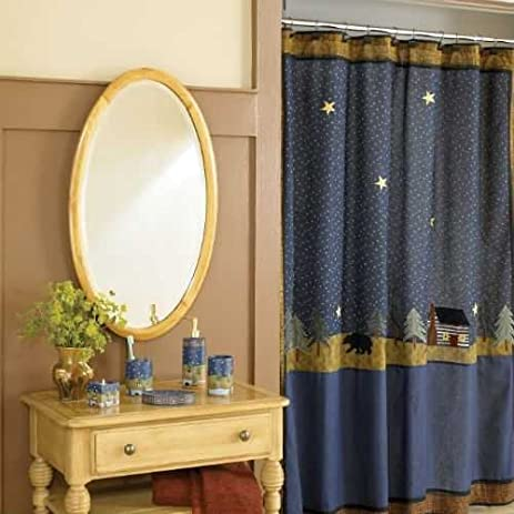midnight bear shower curtain by donna sharp
