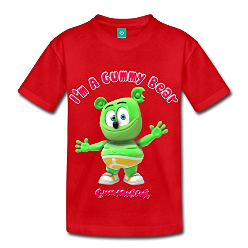 I'm A Gummy Bear Toddler Premium T-Shirt by Spreadshirt, Youth 4T, red (Gummy Bear Shirt compare prices)