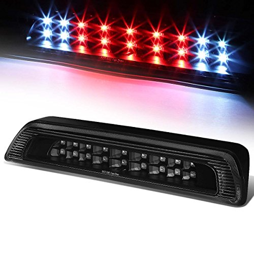 For Toyota Tundra 2nd Gen High Mount Dual Row LED Rear 3rd Brake/Cargo Light (Black Housing Clear (Toyota Tundra Cargo)