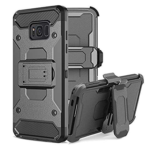 Samsung Galaxy S8 Plus Case, Asstar Premium Hybrid Tri-Layer Protector Case Belt Clip Holster Shock Reduction Built-in Kickstand Rugged Holster Armor Case for S8+ (Gold Disney Iphone 5s Case)