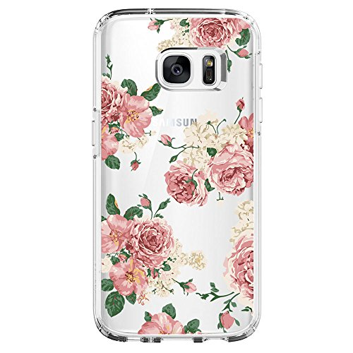 Samsung Galaxy S6 Edge Case,Flyeri Crystal Fashion Floral Pattern Transparent Clear Soft silicone TPU Ultra thin Phone cover back cases For Samsung Galaxy S6 Edge (6)