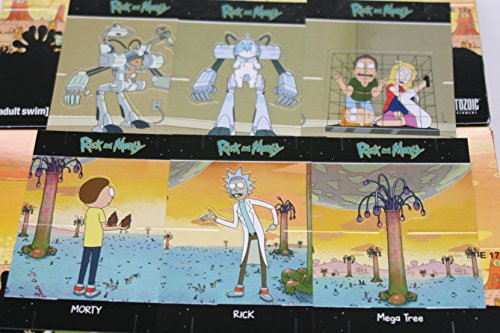 2018 Cryptozoic Rick and Morty Season 1 Trading Cards 6-Card Hobby Exclusive Standee Set