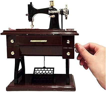 LINGSFIRE Carillon Music Box Vintage Mini Simulazione Creativo Macchina da Cucire Vintage Carillon Musicale Giocattolo per Matrimonio Natale Decorazioni per la casa Compleanno Artigianato 商品名称
