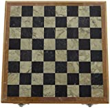 Kapasi Handicrafts Wooden Chess Board / Shatranj Game And Decorative Showpiece ( 20 cm x 21 cm x 4 cm)