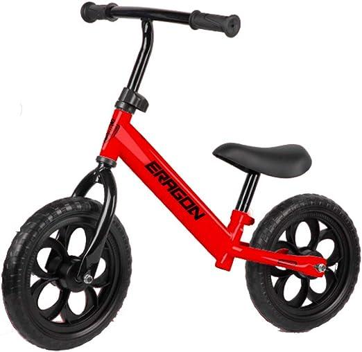 YLET Balance Bike Bastidor de Acero al Carbono Sin Pedales Andar en Bicicleta Bicicleta de Entrenamiento para niños y niños pequeños de 2 a 6 años,Red-OneSize: Amazon.es: Hogar