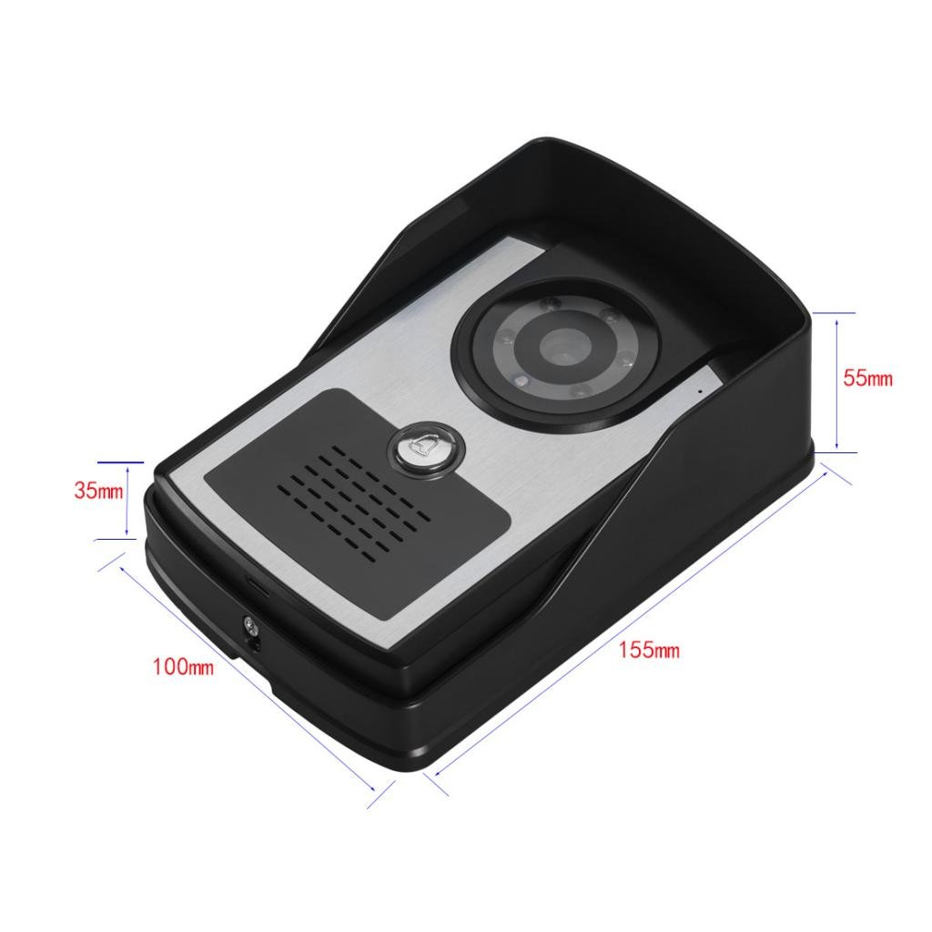 MonkeyJack 7 inch Color LCD Wired Video Door Phone Doorbell Home Entry Intercom System Kit 2 Monitor 1 Camera Night Vision by MonkeyJack (Image #10)