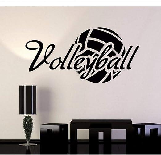 Mgdtt Vinilo Adhesivo De Pared Balón De Voleibol Palabra Deporte ...