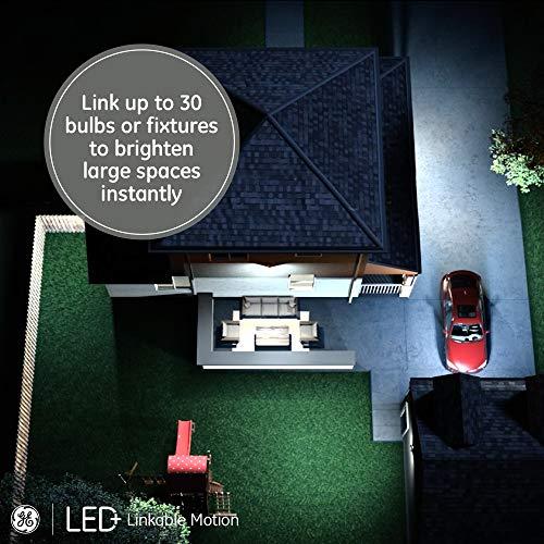 GE LED+ Linkable Motion LED Flood Light, Outdoor Light Bulb, Warm White, 90-Watt Replacement PAR38, Motion Sensor Light Outdoor Driveways, Walkways and Porches