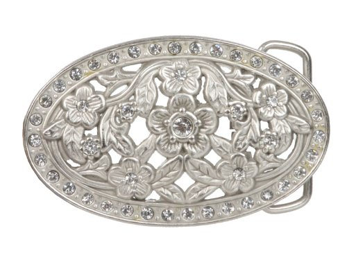 Oval Perforated Rhinestone Floral Belt (Perforated Floral Belt)