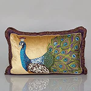 Jay Strongwater Peacock Pillow ST4073-208 Peacock Finish