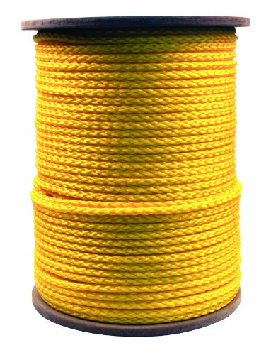 Rope King HBP-381000Y Hollow Braided Poly Rope - Yellow - 3/8 inch x 1,000 (Hollow Braided Poly Rope)