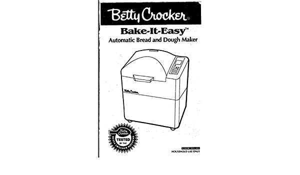 Betty Crocker Pan máquina eléctrica manual de instrucciones y ...