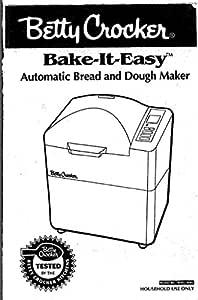 Betty Crocker Pan máquina eléctrica manual de instrucciones y ...