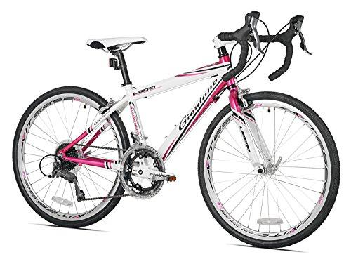 Giordano Girls Libero 1.6 Road Bicycles, White/Pink, 24