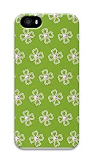 Case For Ipod Touch 5 Cover Floral Pattern And Green Background 3D Custom Case For Ipod Touch 5 Cover