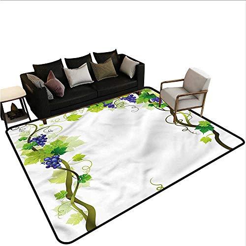 - Vineyard,Anti-Slip Coffee Table Floor Mats 64