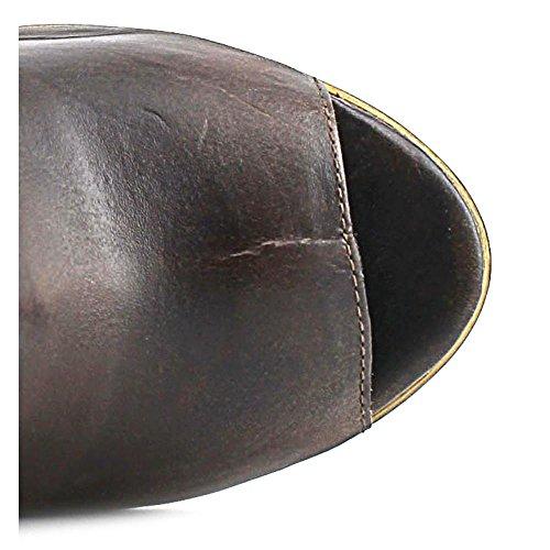 Dingo Koko Kvinner Oss 8 Brun Peep Toe Vestlige Boot