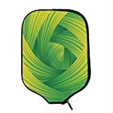 YOLIYANA Abstract Home Decor Durable Racket Cover,Fresh Swirl Creativity Striped Artistic Curvy Waves Trendy Illustration Decorative for Sandbeach,One Size