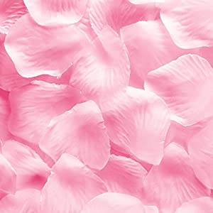 Super Z Outlet Silk Fabric Flower Mini Rose Petals for Weddings (1000 Pieces) (Pink) 13