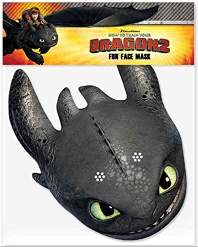 Toothless - Official How to Train Your Dragon 2 Face Mask - Two Face Costume Uk