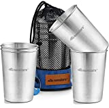Stainless Steel Cup 10 oz. Tumbler Set Cold Drink Cups Good...