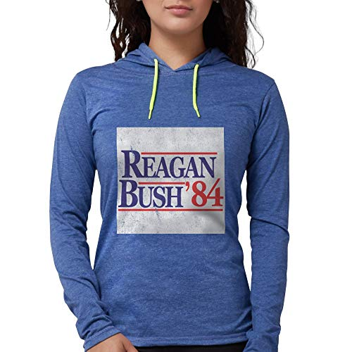 CafePress Reagan Bush '84 Long Sleeve T Shirt Womens Hooded Shirt Heather -