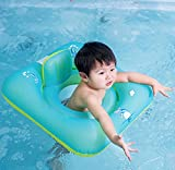 GONGFF Baby Swimming Floats With Seats, Swimming Pools With Safety Seats, Independent Double Airbags, Safety Airbags, Baby Swimming Ring,S
