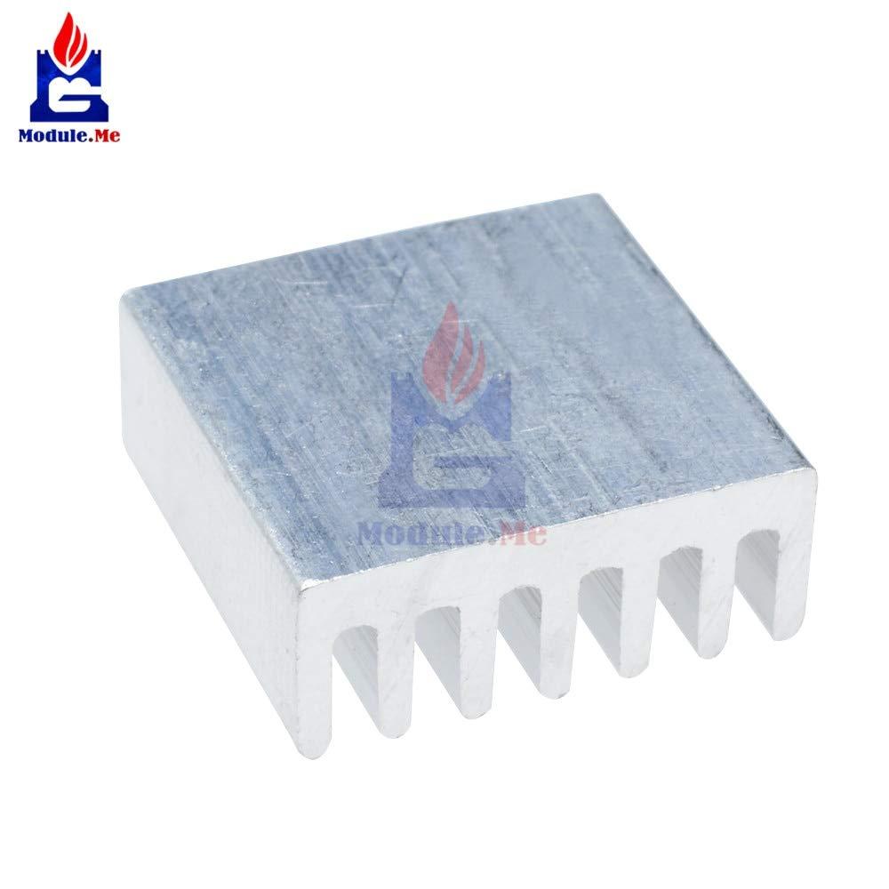 Muccus 10PCS DIY LED Power Memory Chip IC 14x14x6mm Aluminum Heat Sink