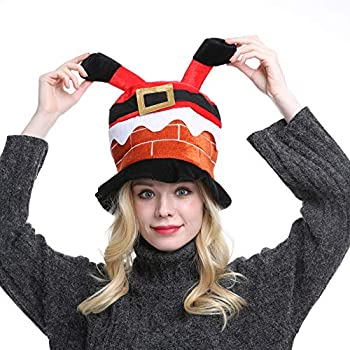 Novelty Christmas Chimney Hat Unisex-Adult s Funny Party Holiday Headwear  Xmas Ornament (Chimney) 528e0dbb217