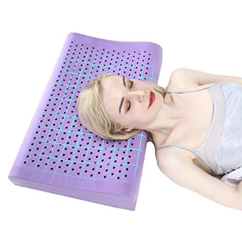 Cheap Latex Pillow Massage Workbench Snoring Anti-snoring Pillow Neck Pillow Help Sleep Care Cervical Spine (Color : Purple, Size : 604010cm) hot sale