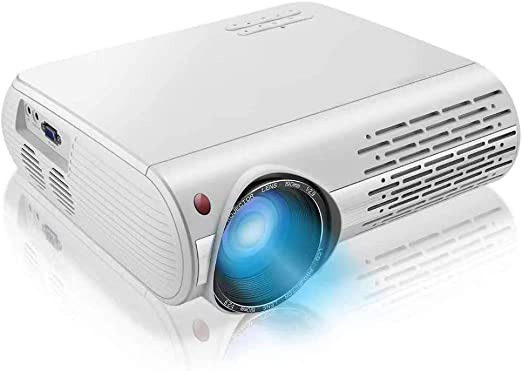 AI LIFE Proyector 1080p 16000 Lux 4K Proyector de Video con ...