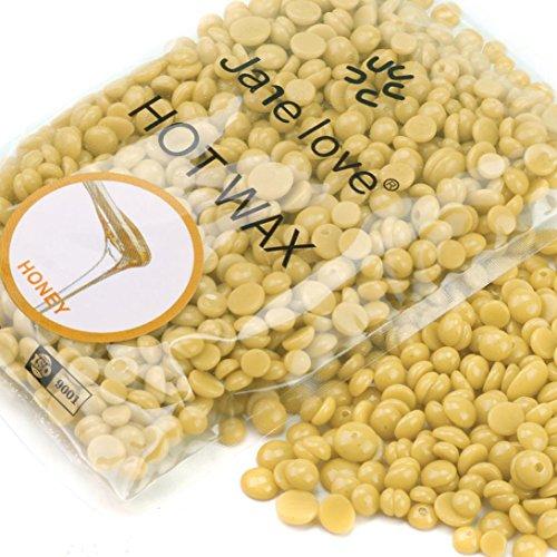 Oksale Hard Wax Beans, No Strip Depilatory Wax Hot Film Hard Wax Pellet Waxing Bikini Hair Removal Bean for Men&Women (1Pack-50g, E)