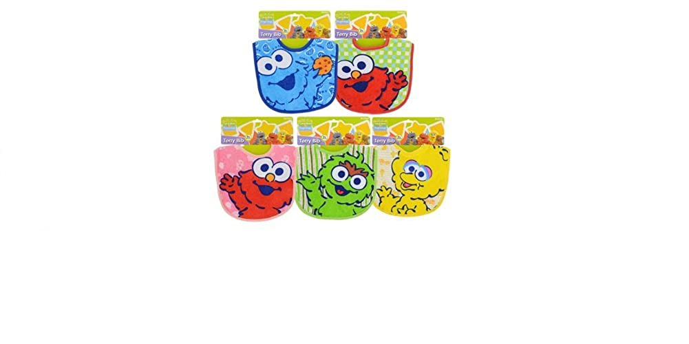 Sesame Street Sesame Beginnings Terry Bib (Pack of 5)