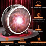 helegeSONG Mini Portable Fan Heater, 500W Fast Heating Thermostat Electric Ceramic Fan Heater, Xmas Gift Home Office Desktop Electric Air Warmer BlackUS Plug