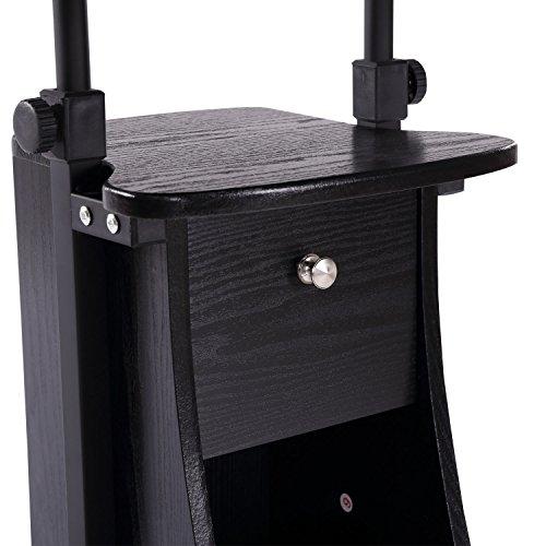 HOMCOM Adjustable Height Laptop Cart with Storage - Black by HOMCOM (Image #5)