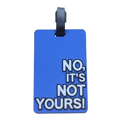 Kigurumi Etiquetas del identificador de la maleta del bolso del recorrido del PVC