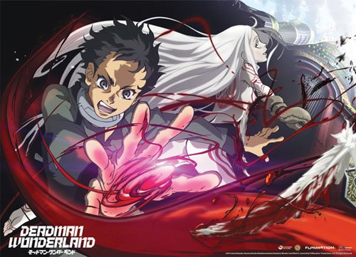 Great Eastern Entertainment 60036 Deadman Wonderland Ganta and Shiro Wall Scroll, 33 by 44-Inch (Wonderland Scroll)