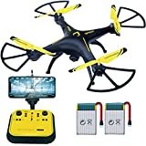 Drones for Beginners - Sopow 2.4GHz 6-Axis Gyro Quadcopter Drone with Onekey Takeoff Headless Mode Three Speed Mode Support Cellphone Ipad ( Yellow )