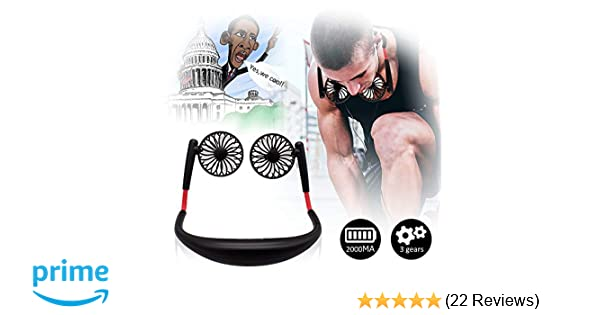 TOA Small Fan Portable Fans Portable Mini Portable Fan Hands Free Fan USB  Charging Fan Neck Fan Easy to Adjust Direction  Suitable for Jogging,