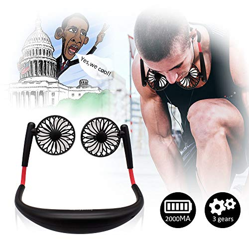 - TOA Small Fan Portable Fans Portable Mini Portable Fan Hands Free Fan USB Charging Fan Neck Fan Easy to Adjust Direction. Suitable for Jogging, Cycling, Outdoor, Working, Traveling (Black)