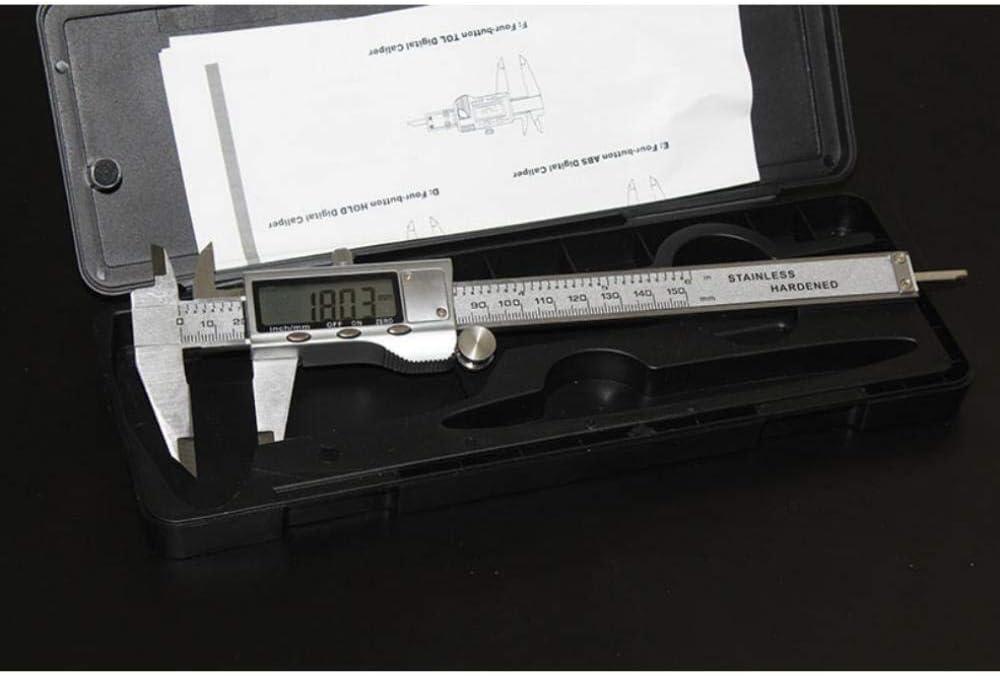 Size : A 0-150mm Electronic Digital Caliper Digital Vernier Calipers Stainless Steel Electronic Caliper Micrometer Depth Measuring