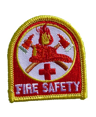 Fire Prevention Safety (FIRE SAFETY -Prevention- Awareness- Month- 2 inch IRON ON EMBROIDERED PATCH)