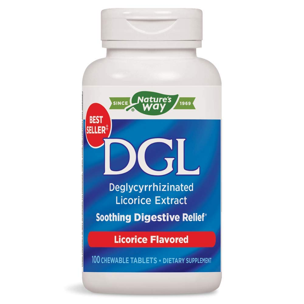 Enzymatic Therapy DGL, Licorice Flavor, 100 Chewable Tablets. Pack of 1 Bottle by Enzymatic Therapy