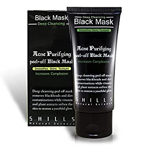 Blackhead Remover Cleaner Purifying Deep Cleansing Acne Peel off Face Mask, Black Mud, 50 mL