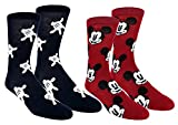 Mickey Mouse Teen Adult Mens 2 pack Crew Socks
