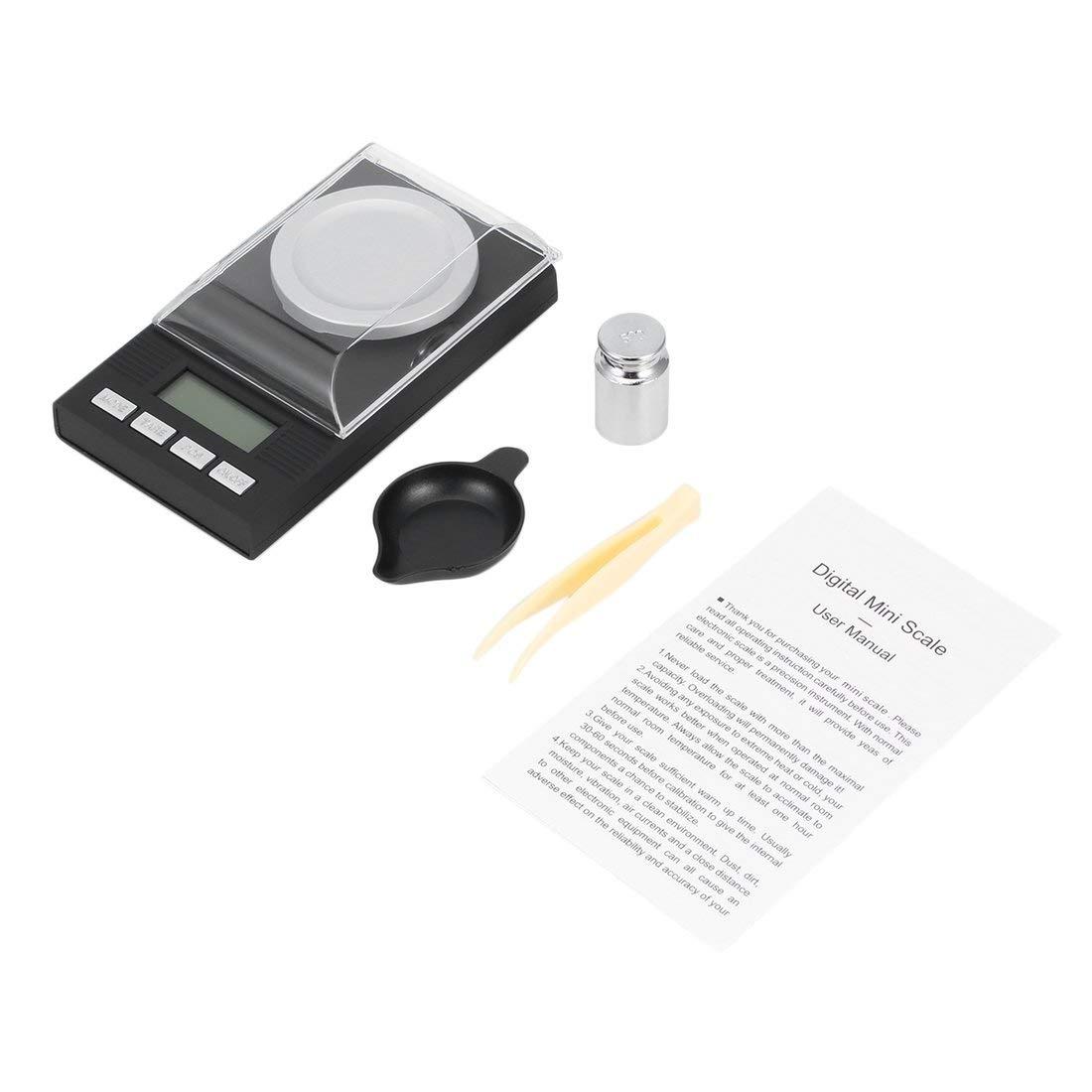 Bilancia digitale professionale ad alta precisione con schermo retroilluminato LCD 100 g / 0.001 g Bilancia portatile per gioielli Formulaone