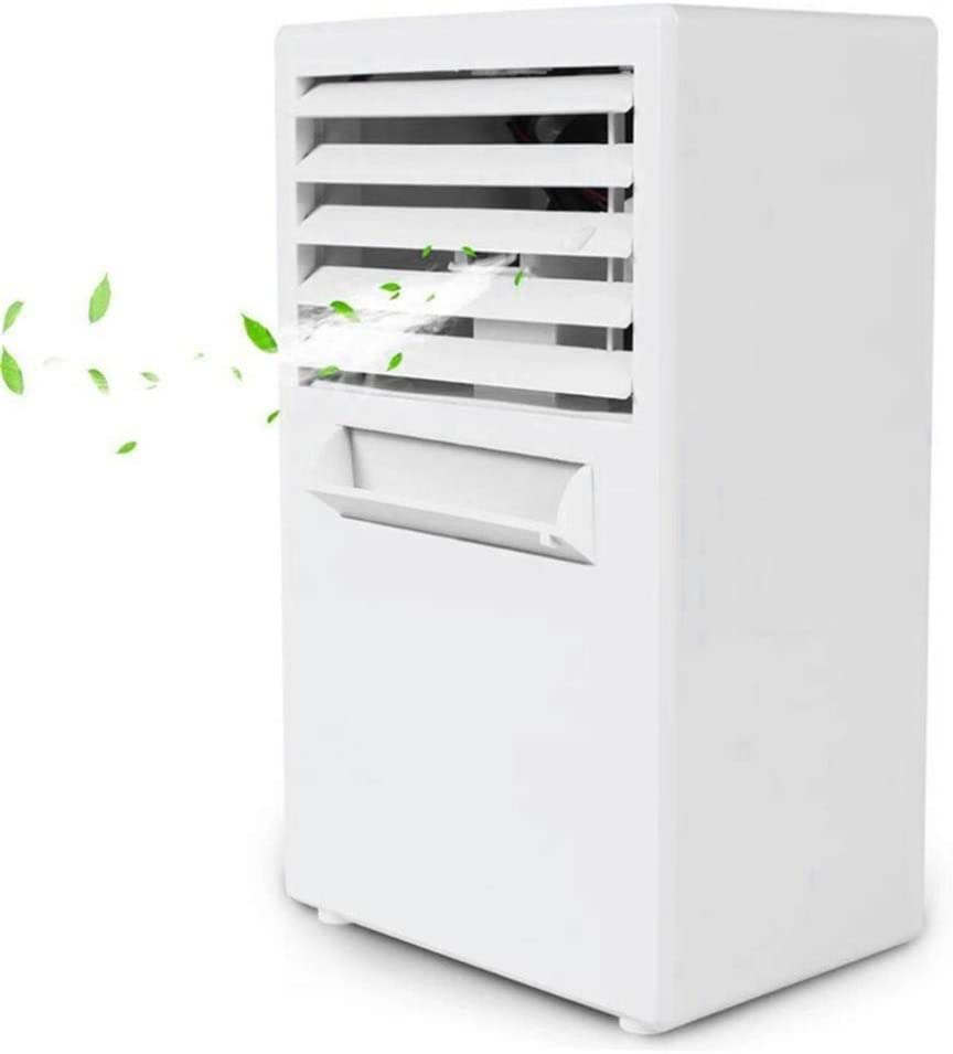 ZJGH Personal Air Cooler, 3 in 1 Evaporative Coolers, Humidifier,Air Circulator Cooling Fan, for Bedroom, Desktop, Ultra-Quiet, Energy efficient- White