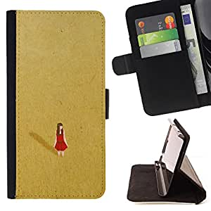 Jordan Colourful Shop - red desert alone lonely gold dress For Apple Iphone 6 PLUS 5.5 - Leather Case Absorci???¡¯???€????€???????&bd